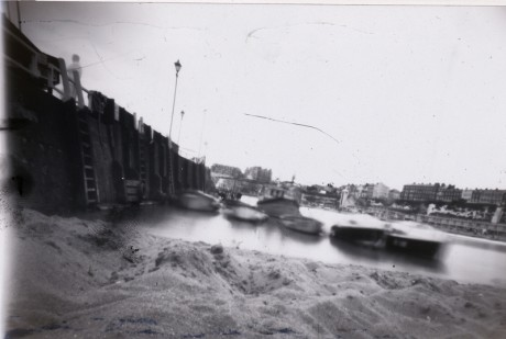 Pinhole camera photo, beach